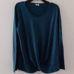 Cato Shiny Teal Blouse